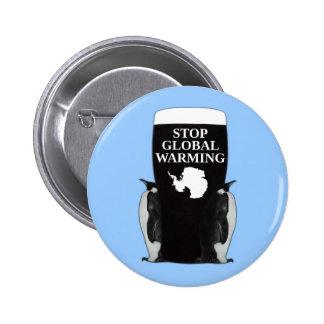 Stop global warming pinback buttons