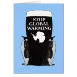 Stop global warming greeting cards