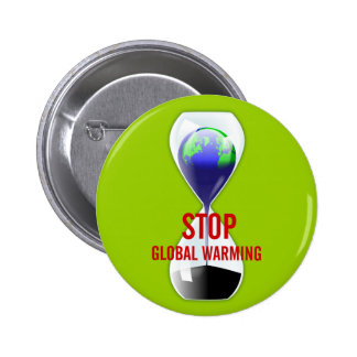 Stop Global Warming Hourglass Button