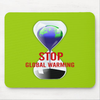 Stop Global Warming Hourglass Mousepad