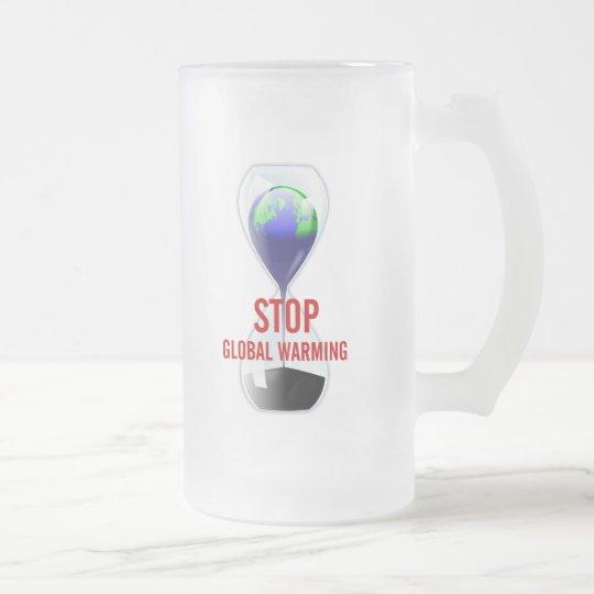 Stop Global Warming Hourglass Mug