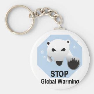 Stop Global Warming Keychain