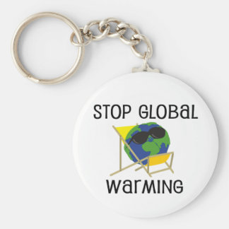 Stop Global Warming Keychain