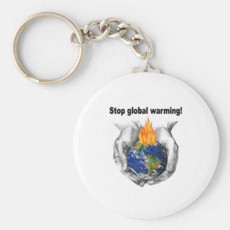 Stop global warming! keychain