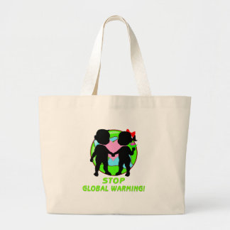 Stop Global Warming Large Tote Bag