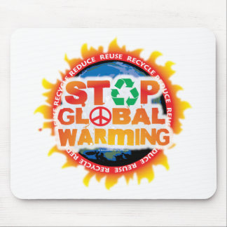 Stop Global Warming Mouse Pad