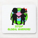Stop Global Warming Mouse Pads