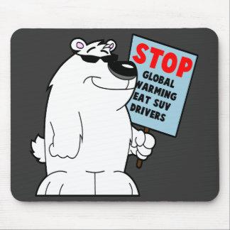 Stop global warming mouse mat
