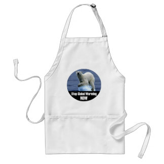 Stop Global Warming Now Adult Apron