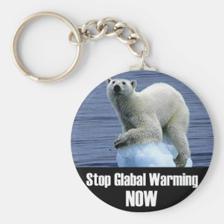Stop Global Warming Now Keychain