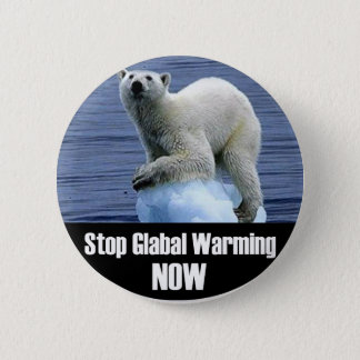 Stop Global Warming Now Pinback Button