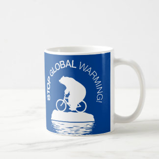 Stop Global Warming: Polar Bear Bicycle Coffee Mug
