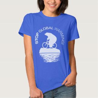 Stop Global Warming: Polar Bear Bicycle T-shirt