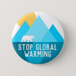 "Stop Global Warming Polar Bear Glacier Button<br><div class=""desc"">Stop Global Warming Polar Bear Glacier Button</div>"