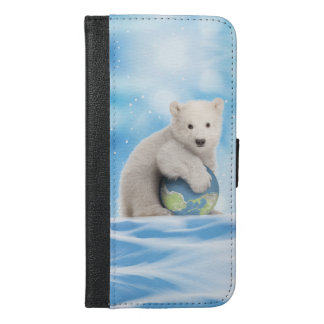 Stop Global Warming Polar Bear Phone Wallet