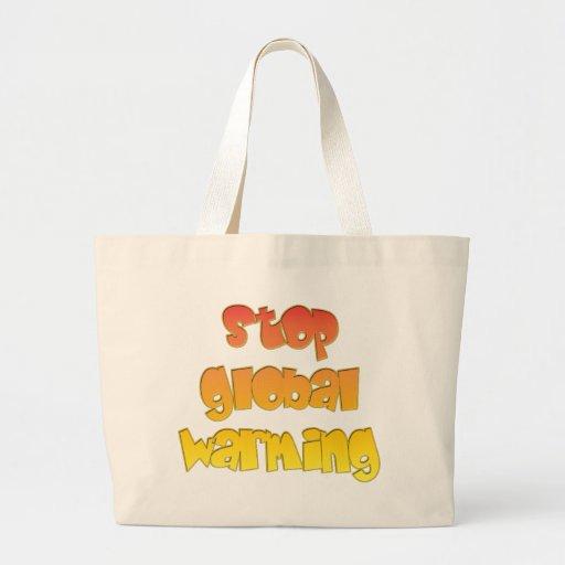 Stop Global Warming products! Jumbo Tote Bag
