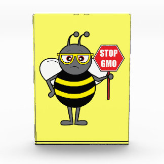 Stop GMO: Bee with a Stop Sign Award