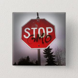 Stop GMO's Stop Sign Graffiti Magnet Pinback Button