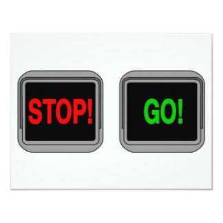 Stop Go 4.25x5.5 Paper Invitation Card