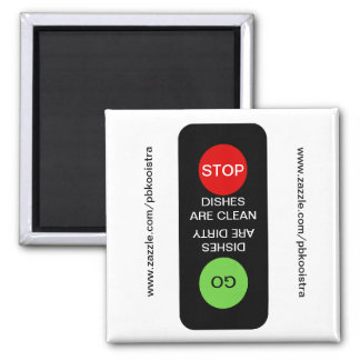 Stop Go Clean Dirty Dishwasher Magnet