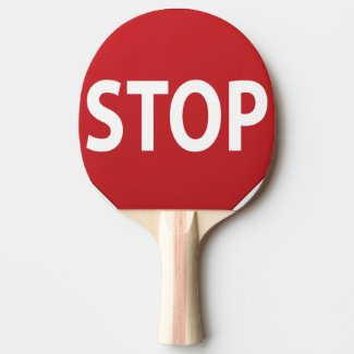 Stop Go Ping Pong Paddle