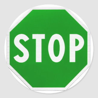 Stop Go Yes No Round Stickers