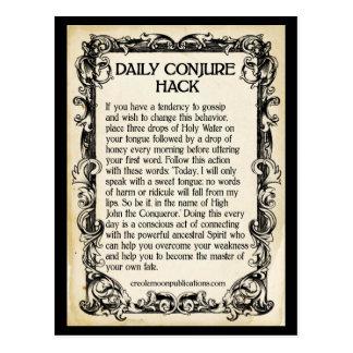 Stop Gossip Daily Conjure Hack Custom Postcard