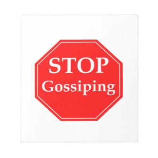 Stop Gossiping #2 Notepad