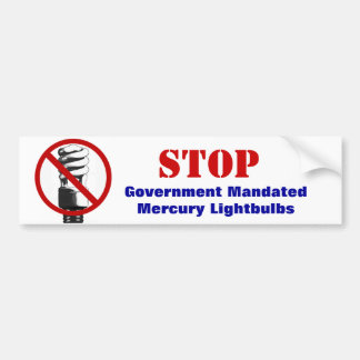 Stop government light bulbs bumper stickers