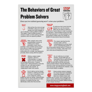 "Stop Guessing Behaviors Poster, 24"" x 36"" Poster"