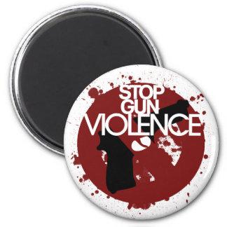 stop gun violence 2 inch round magnet