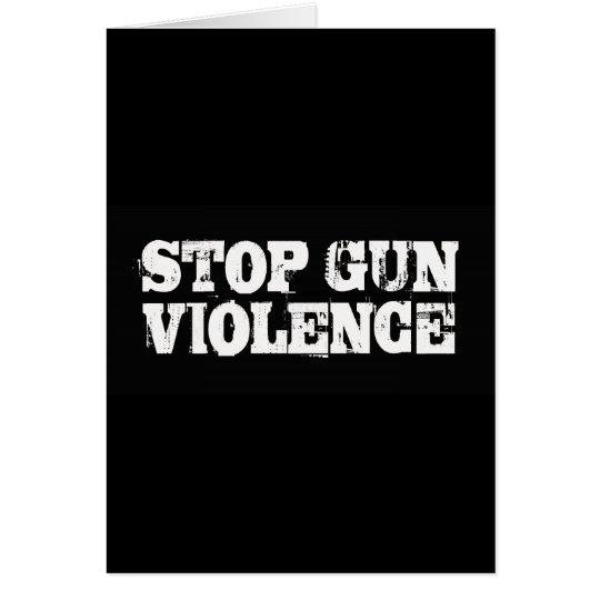 Stop Gun Violence Card