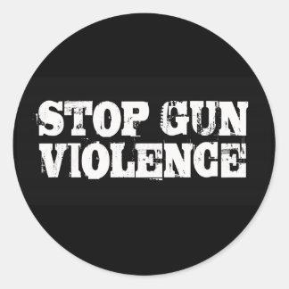 Stop Gun Violence Classic Round Sticker