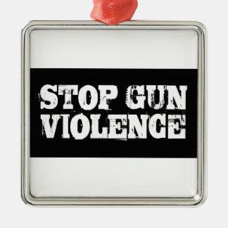 Stop Gun Violence Metal Ornament