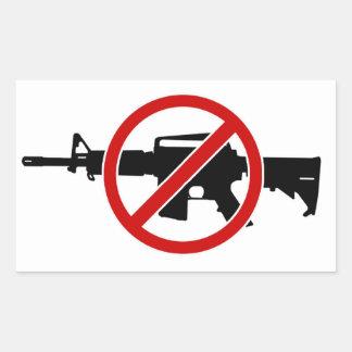 Stop Gun Violence NOW! Rectangular Sticker
