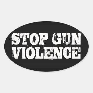 Stop Gun Violence Oval Sticker