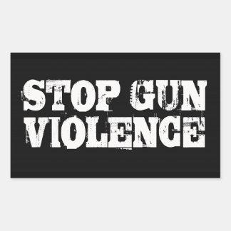 Stop Gun Violence Rectangle Sticker