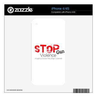 Stop Gun Violence Skin For iPhone 4