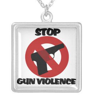 Stop Gun Violence Square Pendant Necklace