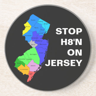 STOP H8'N ON Jersey Coaster