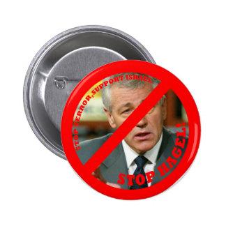 Stop Hagel!! Pinback Button