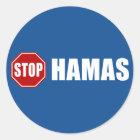 Stop Hamas Classic Round Sticker