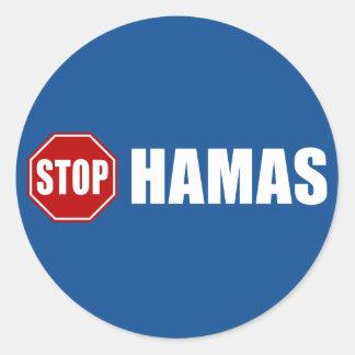 Stop Hamas Round Stickers