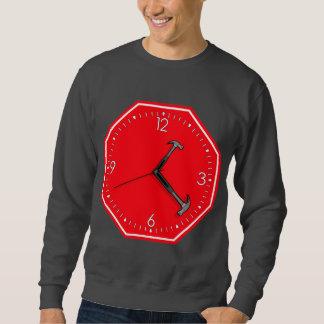 Stop Hammer Time Sign Clock Sweatshirt