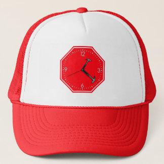 Stop Hammer Time Sign Clock Trucker Hat