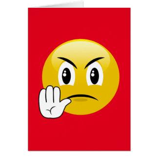 Stop Hands Emoji Card