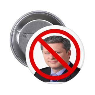 Stop  Harper 2015 Federal Election 2 Inch Round Button