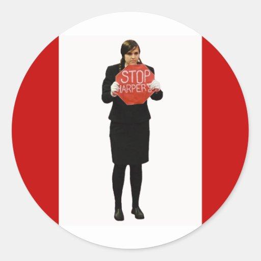 Stop Harper Classic Round Sticker