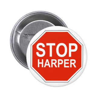 Stop Harper Design in support of 2015 election 2 Inch Round Button