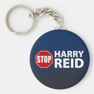 Stop Harry Reid Basic Round Button Keychain